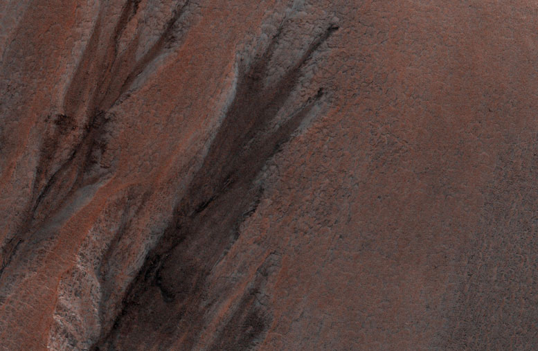HiRISE Views Gullies in Winter Shadow