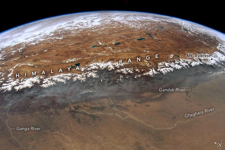 Himalayas ISS 2012 Annotated