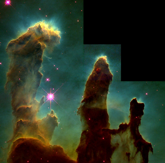 How the Pillars of Creation Were Created