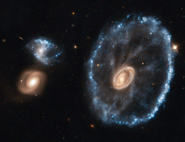 Hubble Captures Stunning Image of Cartwheel Galaxy