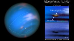 Hubble Confirms New Dark Spot on Neptune