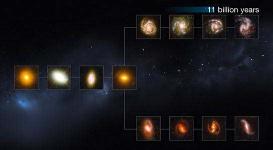 Hubble Data Reveals that Mature Galaxies Existed Over 11 Billion Years Ago