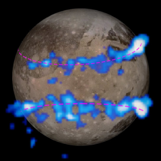 Hubble Data Suggest Underground Ocean on Ganymede