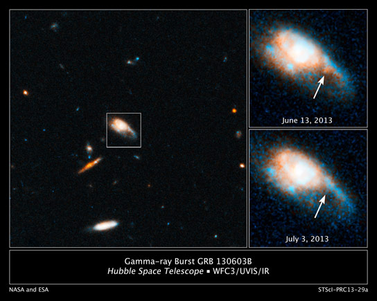 Hubble Detects of a New Kind of Stellar Blast Called a Kilonova