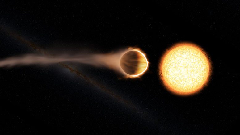 Hubble Discovers Exoplanet with Glowing Water Atmosphere