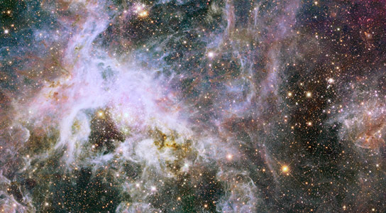 Hubble Explores the Interior of Tarantula Nebula