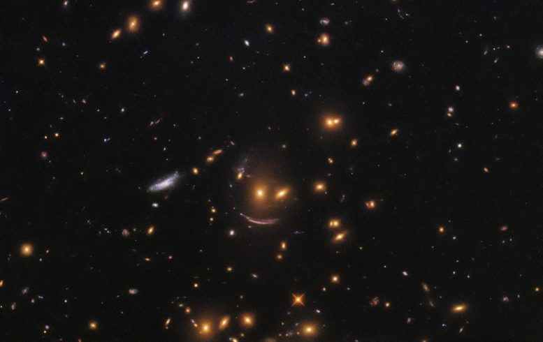 Hubble Finds Smiling Face