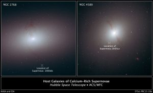 Hubble Finds Supernovae in 'Wrong Place at Wrong Time'