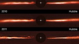 Hubble Finds Unusual Structures in AU Microscopii