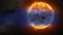 Hubble Finds a Fast Evaporating Exoplanet