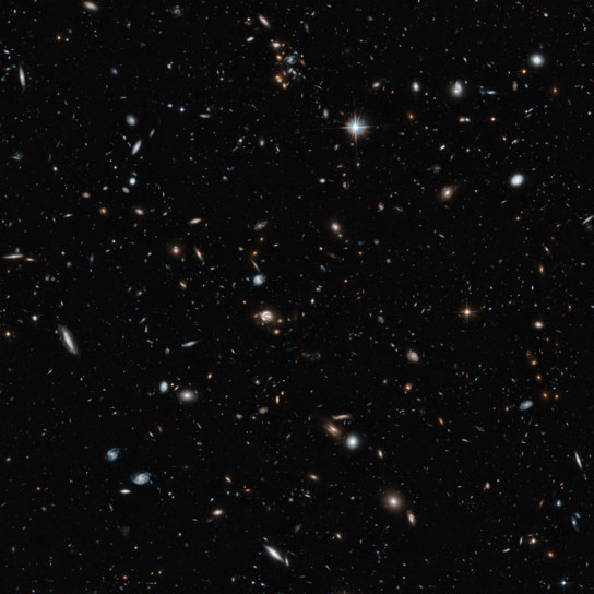 Hubble Gives a Remarkable View of Cross Section of the Universe
