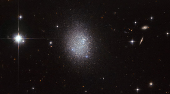 Hubble Image of Irregular Blue Compact Dwarf Galaxy UGC 11411