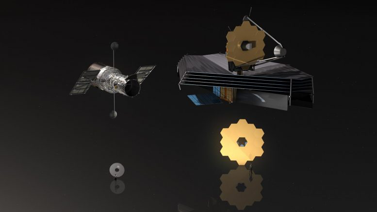 Hubble and James Webb Space Telescope Comparison
