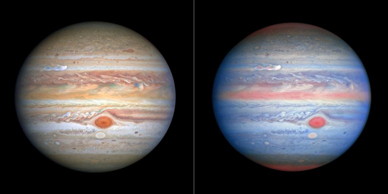 Hubble Jupiter Different Colors