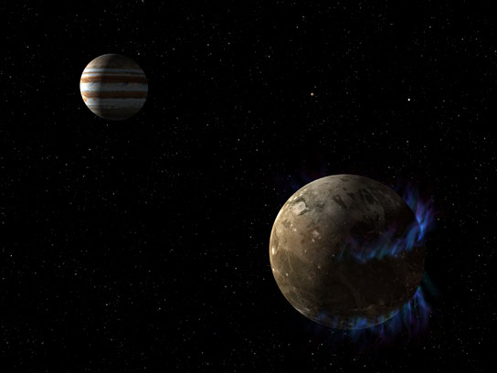 Hubble Observations Suggest Underground Ocean on Jupiter Moon