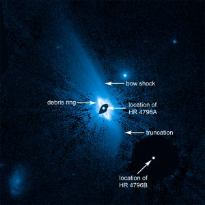Hubble Reveals Huge System of Dusty Material
