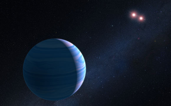Hubble Reveals Planet Orbiting Pair of Stars