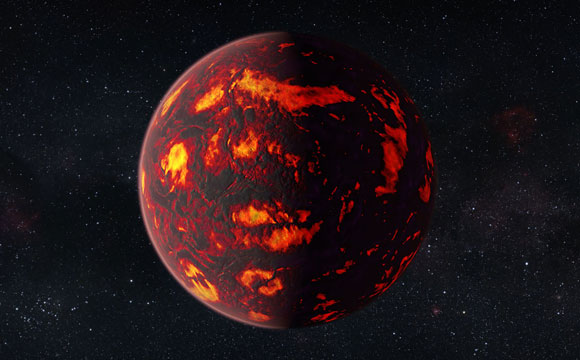 Hubble Reveals Planet with Super-Earth Atmosphere
