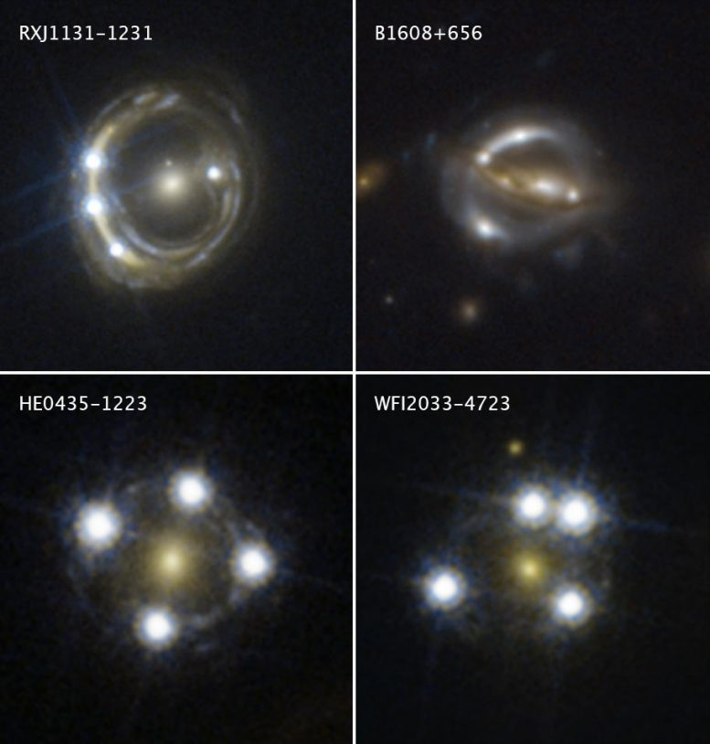 Hubble Snapshots Massive Galaxy Background Quasar