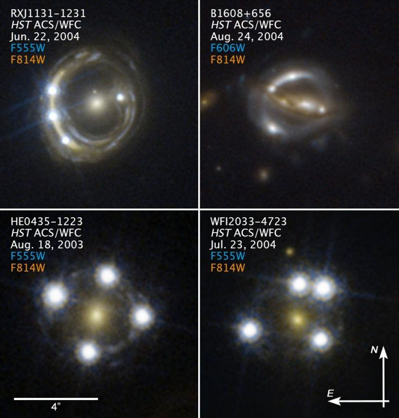 Hubble Snapshots Massive Galaxy Background Quasar Annotated