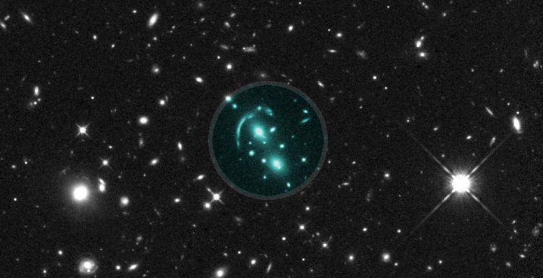 Hubble Space Telescope Image Gravitational Lens Candidate