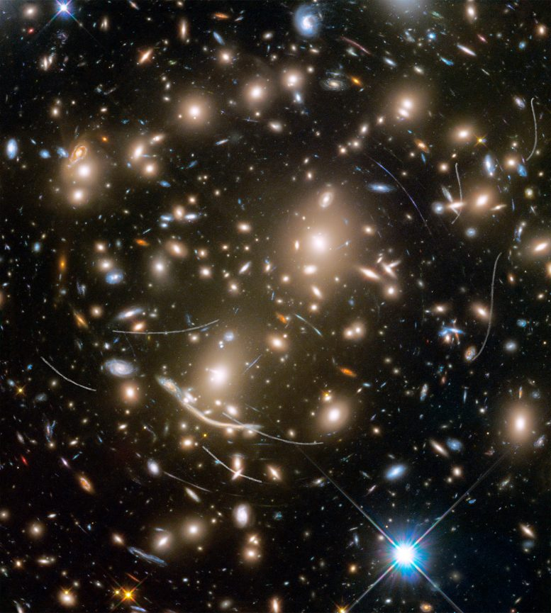 Hubble Spots Asteroids Photobombing Distant Galaxies