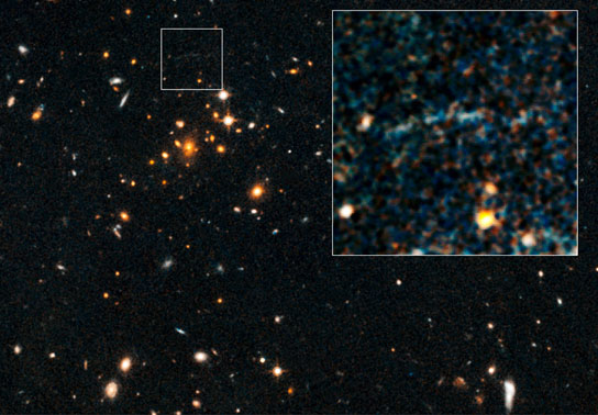 Hubble Spots Rare Gravitational Arc