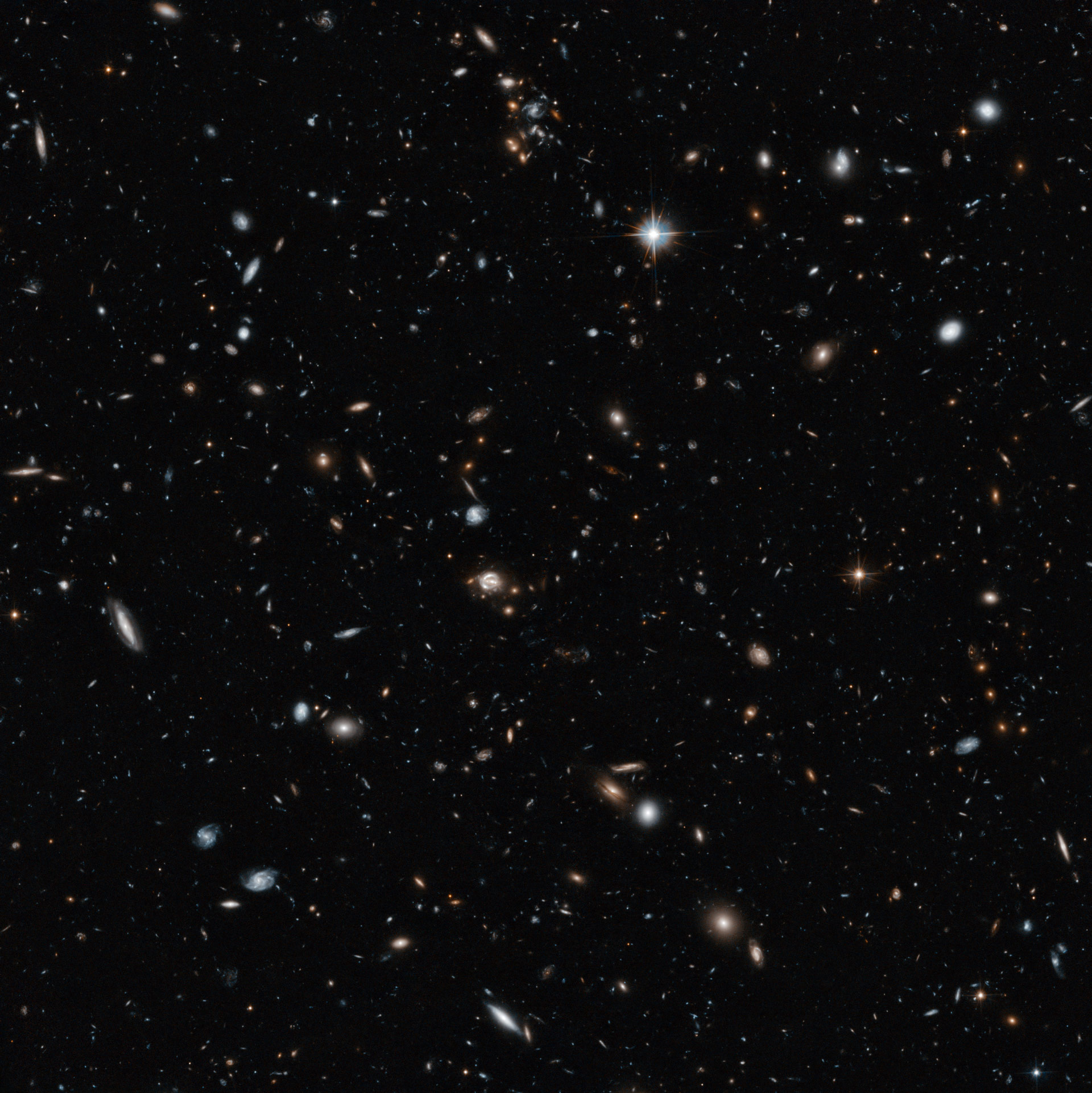 Hubble Image Reveals Cross Section View Of The Universe