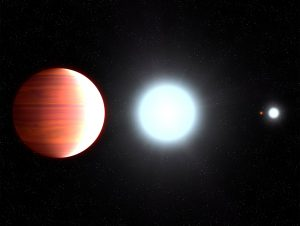 Hubble Telescope Observes Exoplanet that Snows Sunscreen