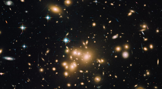 Hubble Uncovers Largest Known Group of Star Clusters