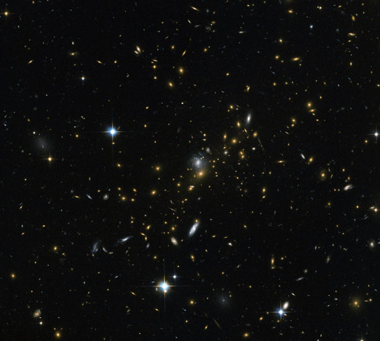 Hubble Uses Gravitational Lensing to View Distant Galaxies