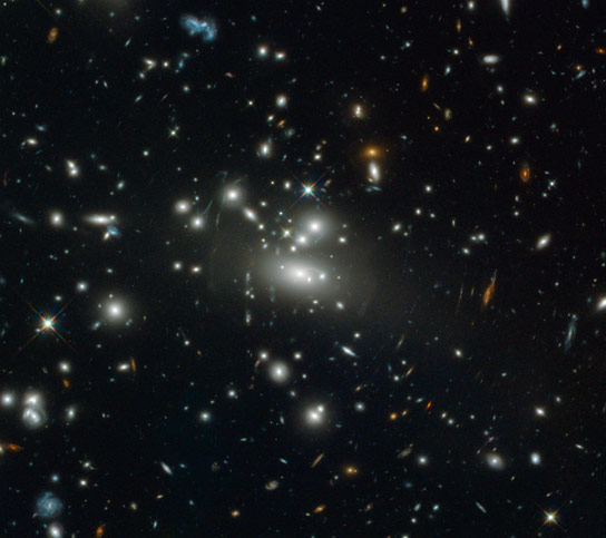 Hubble Views Abell S1077
