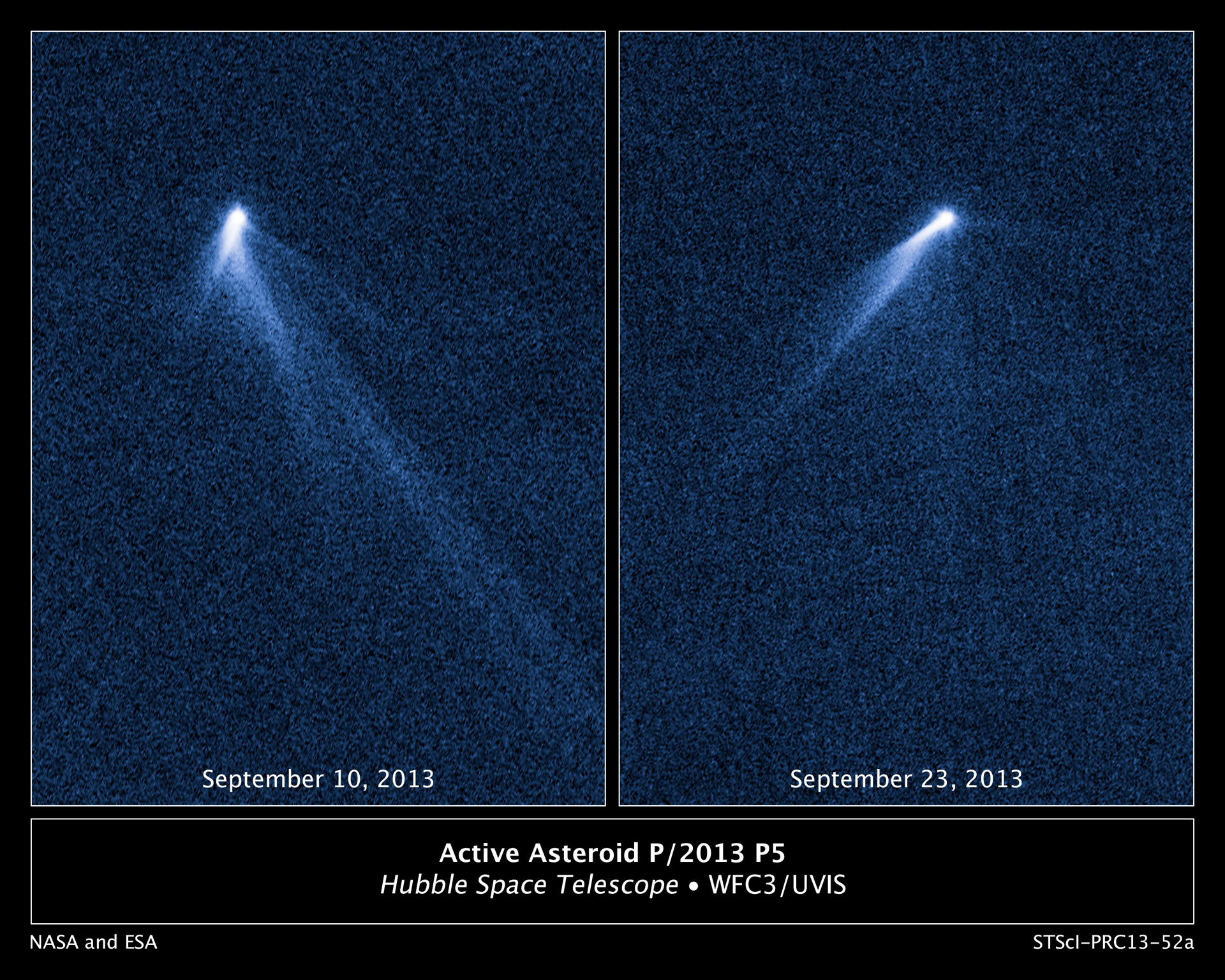 Hubble Sees an Asteroid with Six Comet-Like Tails