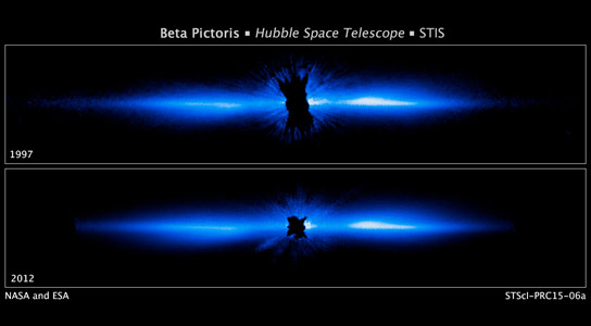 Hubble Views Beta Pictoris