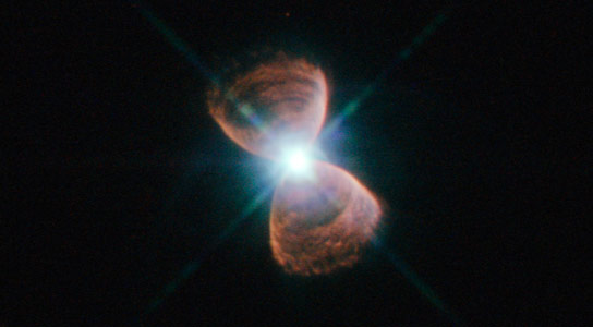 Hubble Views Bipolar Planetary Nebula PN Hb 12
