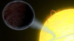 Hubble Views Blistering Pitch-Black Planet WASP-12b