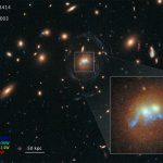 Hubble Views Bridge of Young Stars Linking Two Ancient Galaxies