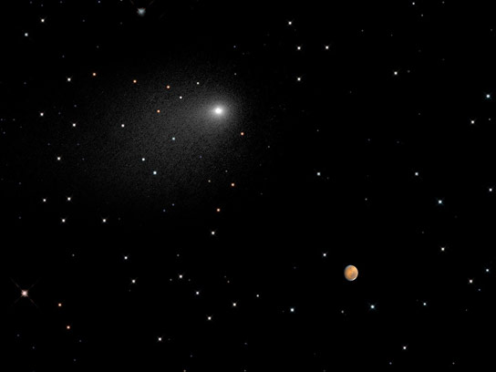 Hubble Views Comet Siding Spring Near Mars