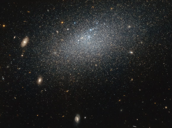 Hubble Views Dwarf Galaxy UGC 4879