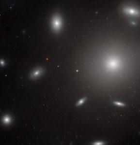 Hubble Views Elliptical Galaxy NGC 4874