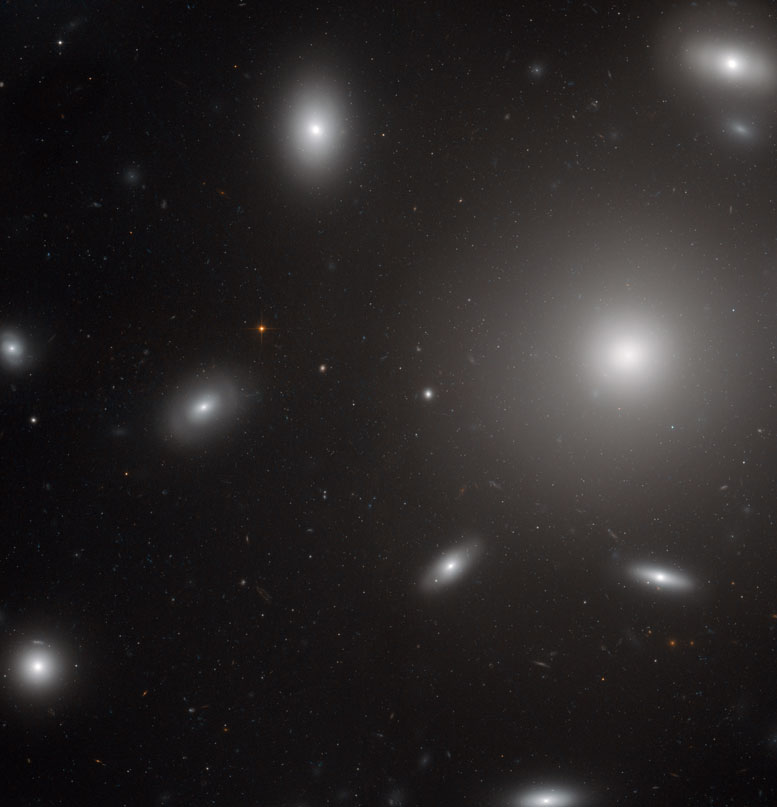 Hubble Views Elliptical Galaxy NGC 4874