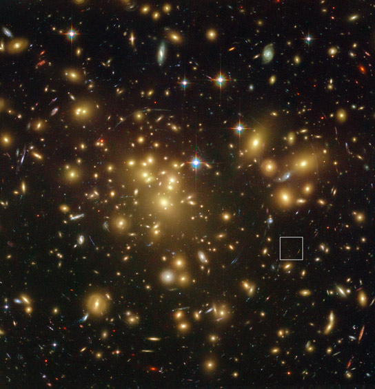 Hubble Views Galaxy Cluster Abell 1689