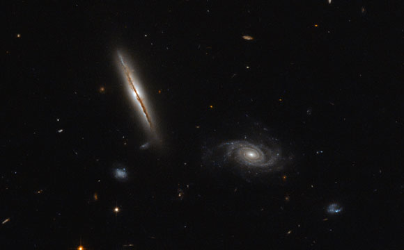 Hubble Views Galaxy LO95 0313-192
