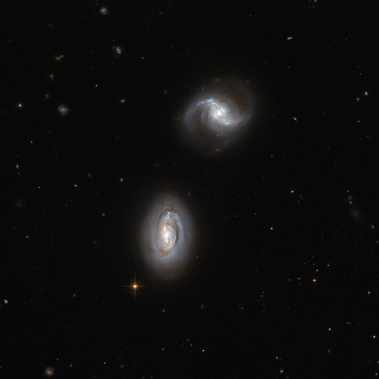 hubble galaxies pair - photo #1