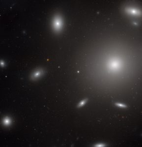 Hubble Views Giant Elliptical Galaxy NGC 4874
