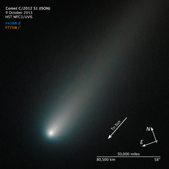 Hubble Views Icy Comet ISON
