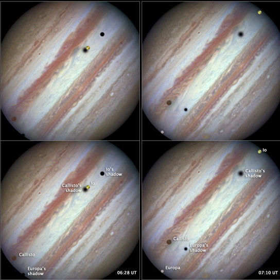 Hubble Views Jupiter Triple-Moon Conjunction