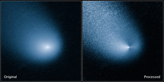 Hubble Views Mars Bound Comet Sprout Multiple Jets