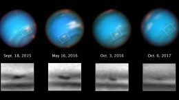 Hubble Views Mysterious Shrinking Storm on Neptune