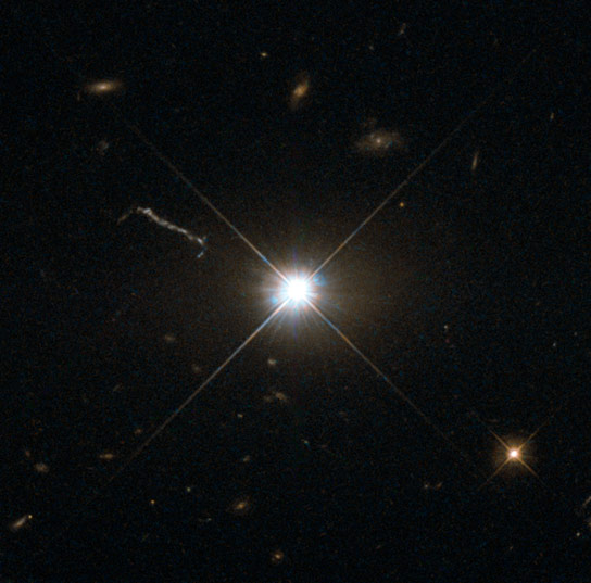 Hubble Views Quasar 3C 273